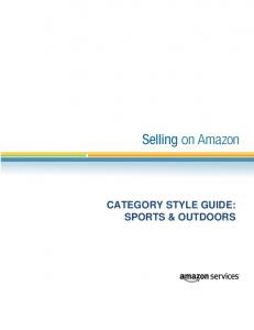 CATEGORY STYLE GUIDE: SPORTS & OUTDOORS