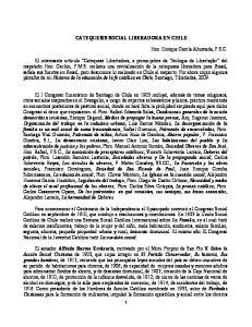 CATEQUESIS SOCIAL LIBERADORA EN CHILE