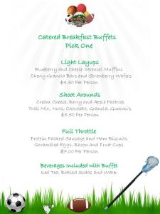Catered Breakfast Buffets Pick One