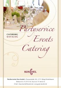 Catering. Events CATERING KATALOG