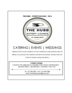 CATERING EVENTS WEDDINGS