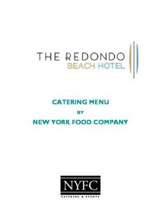 CATERING MENU NEW YORK FOOD COMPANY