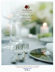 Catering to you WEDDING CATERING MENU