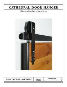 CATHEDRAL DOOR HANGER