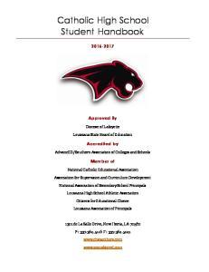 Catholic High School Student Handbook
