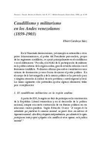 Caudillismo y militarismo en los Andes venezolanos ( )