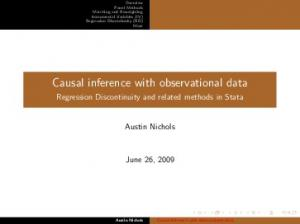 Causal inference with observational data