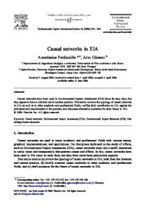 Causal networks in EIA