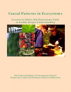 Causal Patterns in Ecosystems