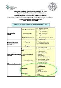 CAUSAS DE HEMORRAGIA MAYOR EN LA EMBARAZADA