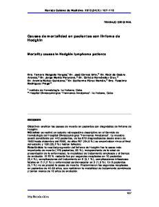 Causas de mortalidad en pacientes con linfoma de Hodgkin