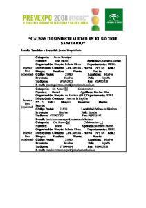 CAUSAS DE SINIESTRALIDAD EN EL SECTOR SANITARIO
