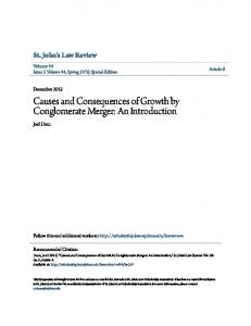 Causes and Consequences of Growth by Conglomerate Merger: An Introduction