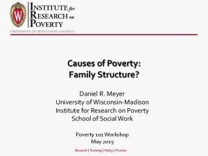 Causes of Poverty: Family Structure?