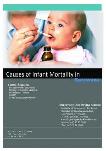 Causes&of&Infant&Mortality&in&