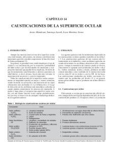 CAUSTICACIONES DE LA SUPERFICIE OCULAR