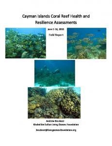Cayman Islands Coral Reef Health and Resilience Assessments