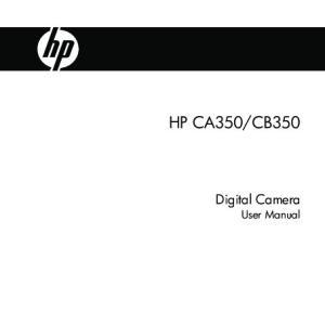CB350. Digital Camera User Manual