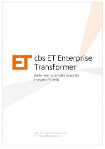 cbs ET Enterprise Transformer