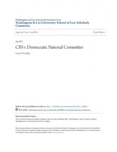 CBS v. Democratic National Committee