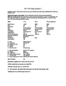 CBT 434 Cardiac Scenario 1