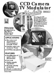 CCD Camera TV Modulator