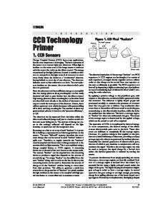 CCD Technology Primer 1. CCD Sensors