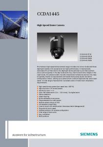 CCDA1445 High-Speed Dome Camera