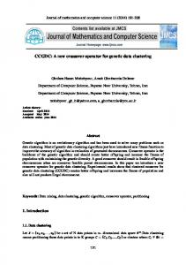 CCGDC: A new crossover operator for genetic data clustering