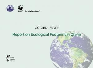 CCICED - WWF Report on Ecological Footprint in China