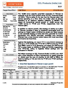 CCL Products (India) Ltd