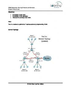 CCNA Exploration: Routing Protocols and Concepts Chapter 6 Case Study