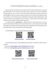 CCTR-809 Asset GPS Tracker User Manual ---V