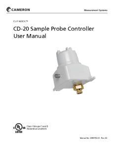 CD-20 Sample Probe Controller User Manual