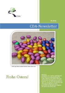 CDA-Newsletter. Frohe Ostern! III [Geben Sie Text ein]