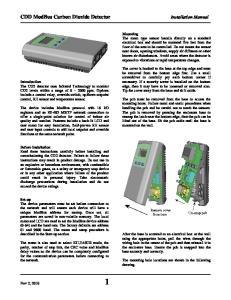 CDD ModBus Carbon Dioxide Detector