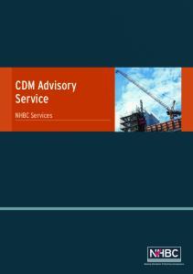 CDM Advisory Service. NHBC Services