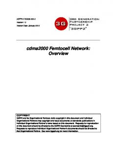 cdma2000 Femtocell Network: Overview