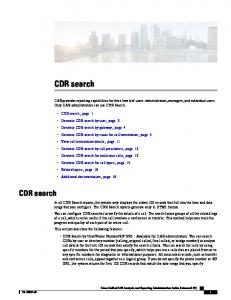 CDR search. CDR search