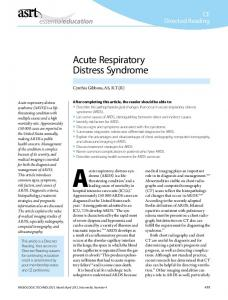 CE Directed Reading. Acute Respiratory Distress Syndrome