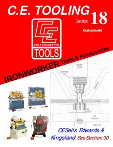 C.E. TOOLING. CE Sells Edwards & Kingsland. Kingsland See Section 30. Section. Tooling Booklet COLE ENGINEERED