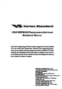 CE45 EEPROM PROGRAMMING SOFTWARE REFERENCE MANUAL
