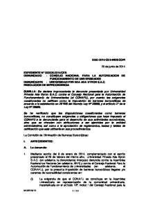 CEB-INDECOPI. 20 de junio de 2014