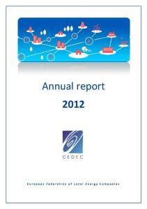 CEDEC ANNUAL REPORT FOR 2012