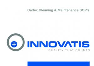 Cedex Cleaning & Maintenance SOP s QUALITY THAT COUNTS
