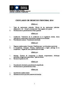 CEDULARIO DE DERECHO PROCESAL 2014
