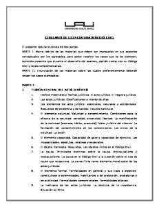 CEDULARIO DE LICENCIATURA DERECHO CIVIL