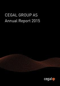 CEGAL GROUP AS Annual Report 2015