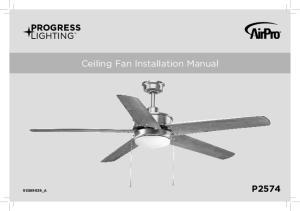 Ceiling Fan Installation Manual _A P2574
