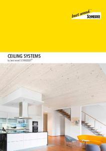 CEILING SYSTEMS by best wood SCHNEIDER